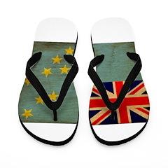 Tuvalu Flag Flip Flops