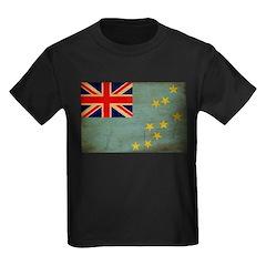 Tuvalu Flag Kids Dark T-Shirt