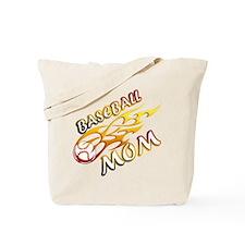 Baseball Mom (flame) Tote Bag