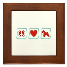 Peace, Love and Schnauzers Framed Tile