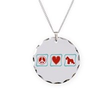 Peace, Love and Schnauzers Necklace