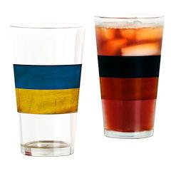 Ukraine Flag Drinking Glass