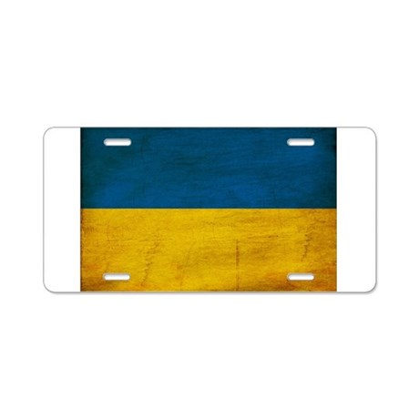Ukraine Flag Aluminum License Plate