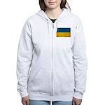 Ukraine Flag Women's Zip Hoodie