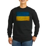 Ukraine Flag Long Sleeve Dark T-Shirt