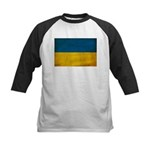 Ukraine Flag Kids Baseball Jersey