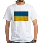Ukraine Flag White T-Shirt