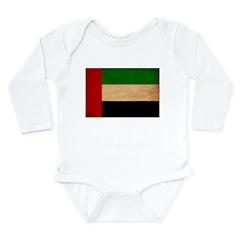 United Arab Emirates Flag Long Sleeve Infant Bodys