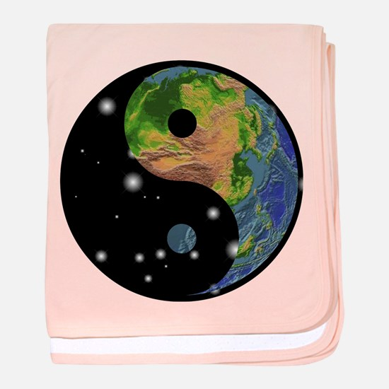Yin Yang Earth Space baby blanket