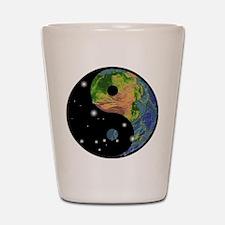 Yin Yang Earth Space Shot Glass