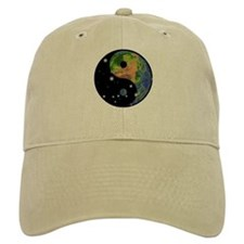 Yin Yang Earth Space Baseball Cap