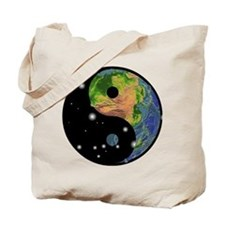 Yin Yang Earth Space Tote Bag