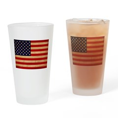 United States Flag Drinking Glass