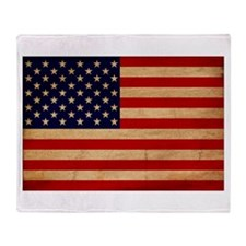 United States Flag Throw Blanket