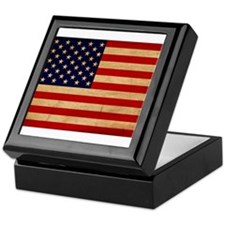 United States Flag Keepsake Box