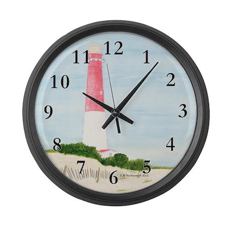 Barnegat Lighthouse Large Wall Clock