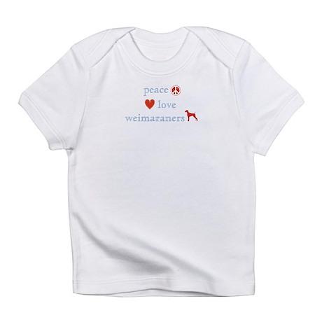 Peace, Love & Weimaraners Infant T-Shirt