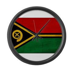 Vanuatu Flag Large Wall Clock