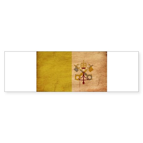 Vatican City Flag Sticker (Bumper)