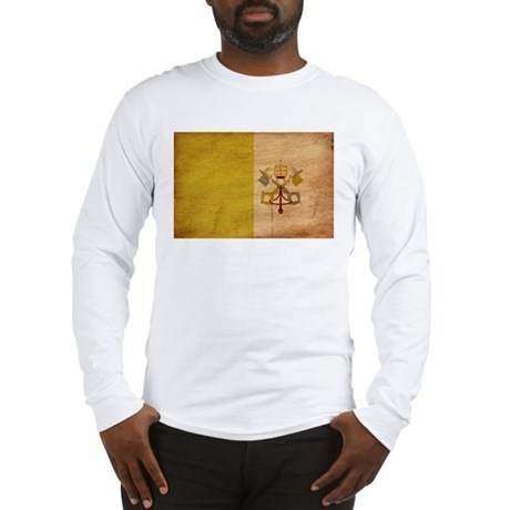 Vatican City Flag Long Sleeve T-Shirt