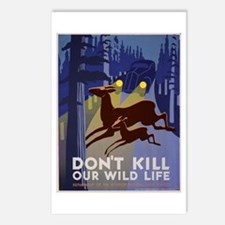 Wild Life WPA Poster Postcards (Package of 8)