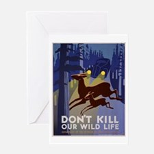 Wild Life WPA Poster Greeting Card