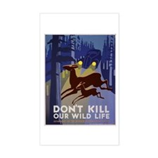 Wild Life WPA Poster Decal