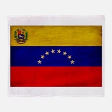 Venezuela Flag Throw Blanket