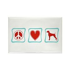 Peace, Love & Weimaraners Rectangle Magnet