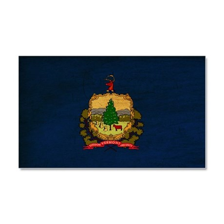 Vermont Flag Car Magnet 20 x 12