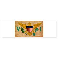Virgin Islands Flag Bumper Sticker