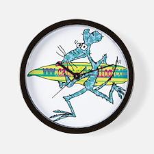 Surf Rat by Tamara Warren Wall Clock