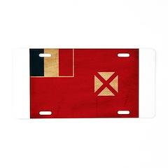 Wallis and Futuna Flag Aluminum License Plate