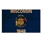 Wisconsin Flag Sticker (Rectangle 50 pk)