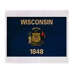 Wisconsin Flag Throw Blanket