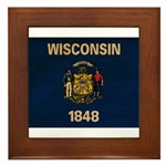 Wisconsin Flag Framed Tile