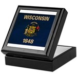 Wisconsin Flag Keepsake Box