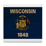 Wisconsin Flag Tile Coaster