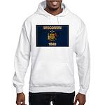 Wisconsin Flag Hooded Sweatshirt