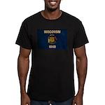 Wisconsin Flag Men's Fitted T-Shirt (dark)