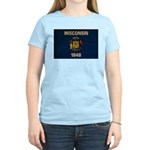 Wisconsin Flag Women's Light T-Shirt