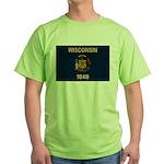 Wisconsin Flag Green T-Shirt