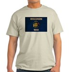 Wisconsin Flag Light T-Shirt