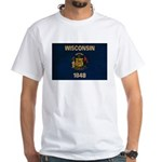 Wisconsin Flag White T-Shirt