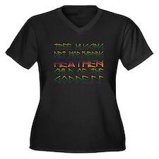 Tree Hugging Women's Plus Size V-Neck Dark T-Shirt