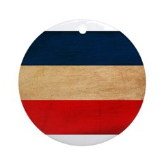 Yugoslavia Flag Ornament (Round)