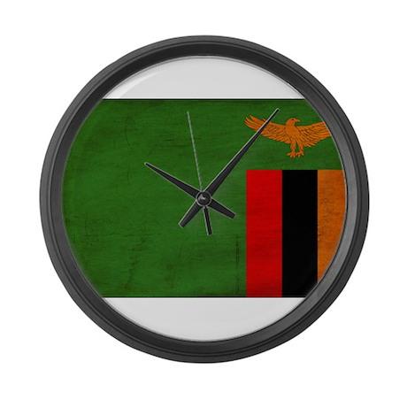 Zambia Flag Large Wall Clock