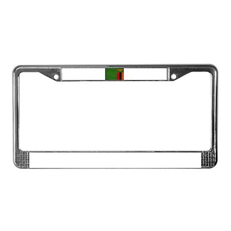 Zambia Flag License Plate Frame