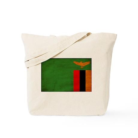 Zambia Flag Tote Bag