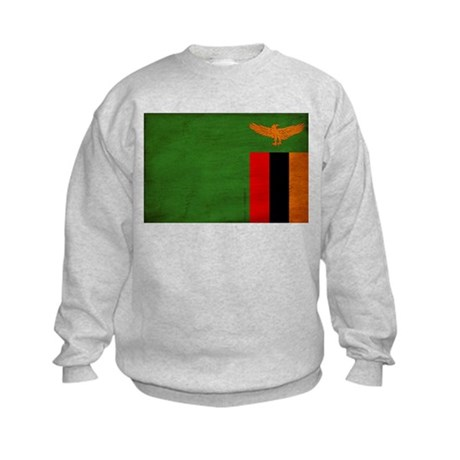 Zambia Flag Kids Sweatshirt